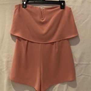 Pink Strapless Romper - only worn once!